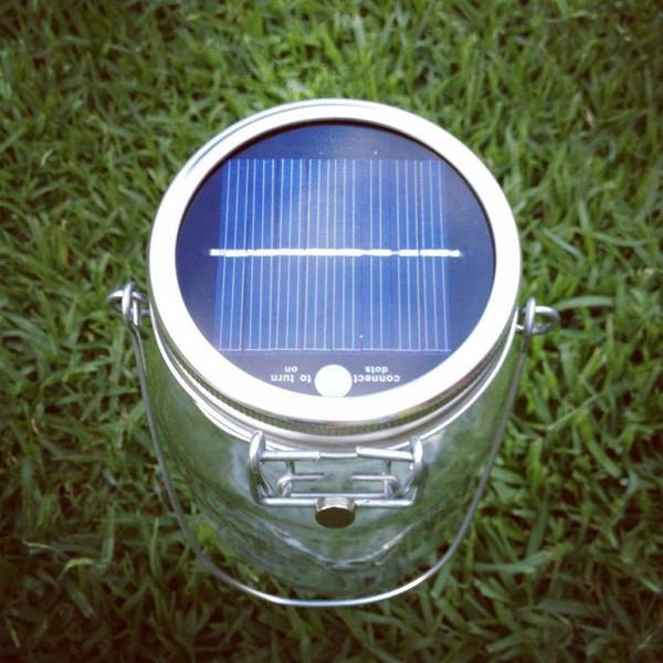 solarjar bovenkant zonnepaneel