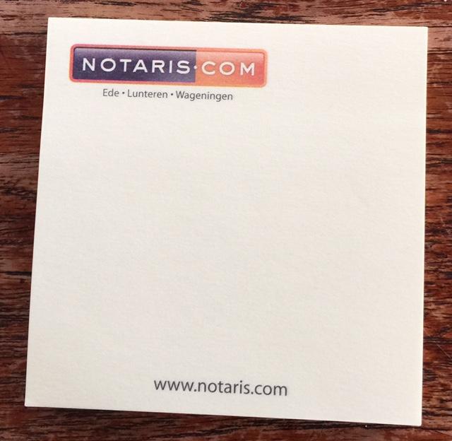 memoblaadjes notaris vpva