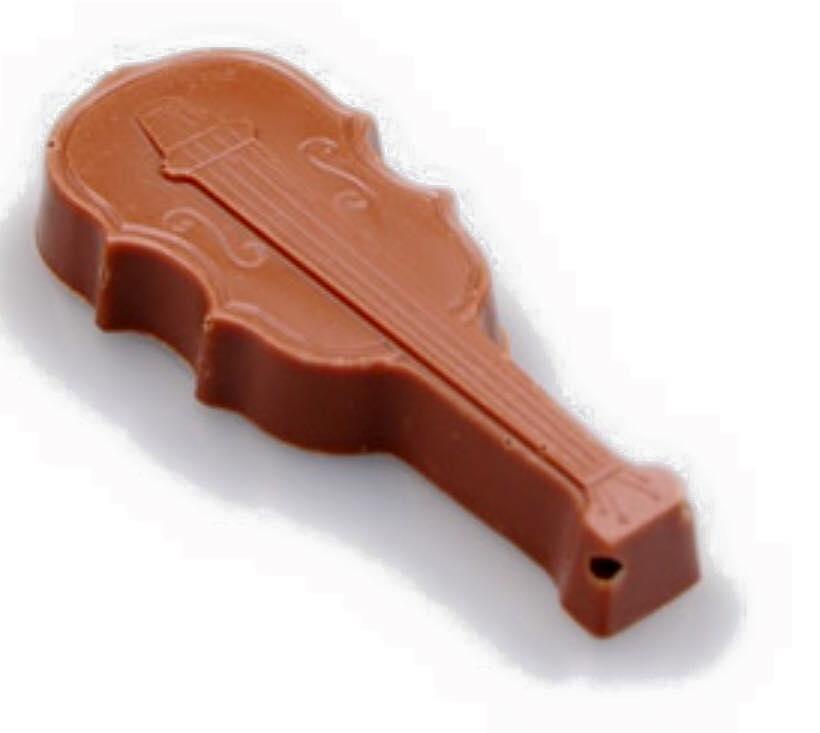 muzikale chocolade viool