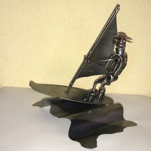 sculptuur golfsurfer